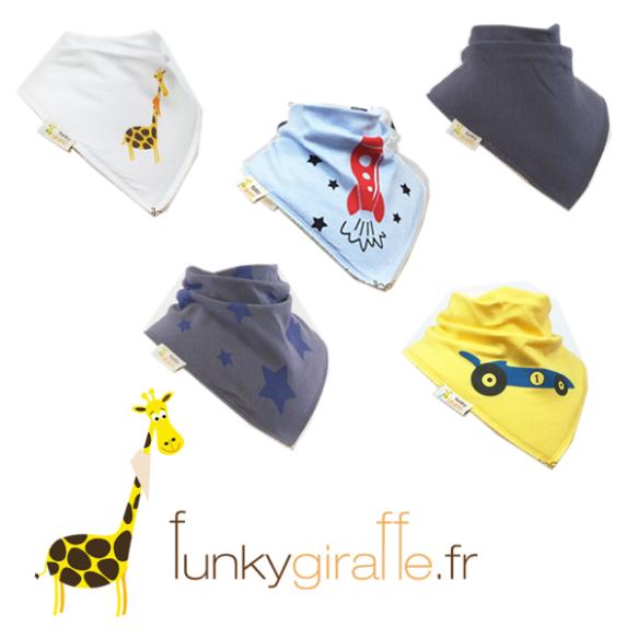 bavoir funky giraffe too-short réduction bébé enfant