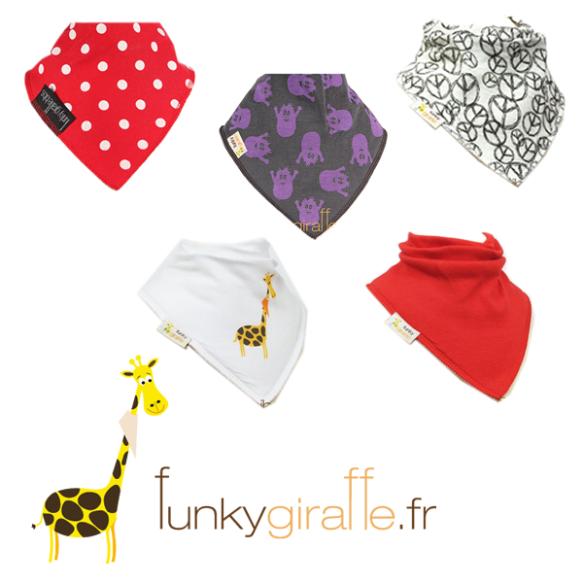 bavoir funky giraffe too-short réduction